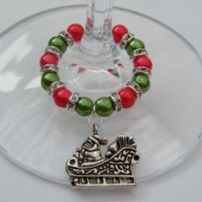 Santa Wine Glass Charms